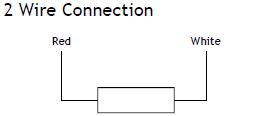 2 wire Pt100 diagram