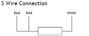 3 wire Pt100 diagram